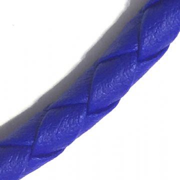 3mm synthetic soft leather cord for jewellery making - 100cm - Royal blue